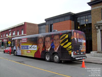 Le TVA Express, l'autobus de Jean Lapierre