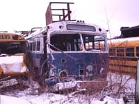 Ex-Sherbrooke Transit 265 - 1950's Prevost Citadin, extended in the 60's by Sherbrooke Coach Manufacturing - Used for car parts storage - Now scrapped