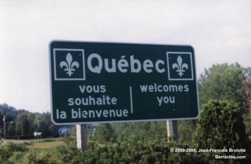 Forestville (QC) Canada  city photos gallery : Québec vous souhaite la bienvenue / welcomes you , Au sud de ...