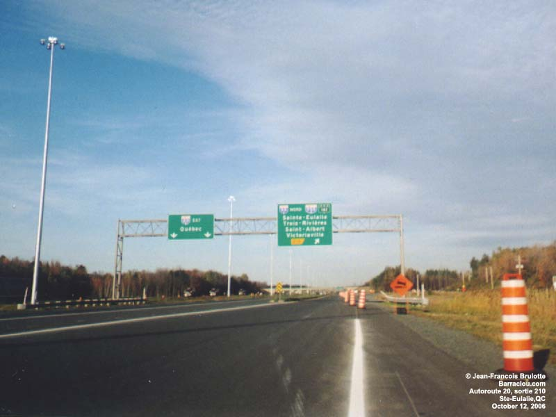 Forestville (QC) Canada  City pictures : Autoroute Jean Lesage 20 East / Trans Canada Highway Aut. 55 North ...