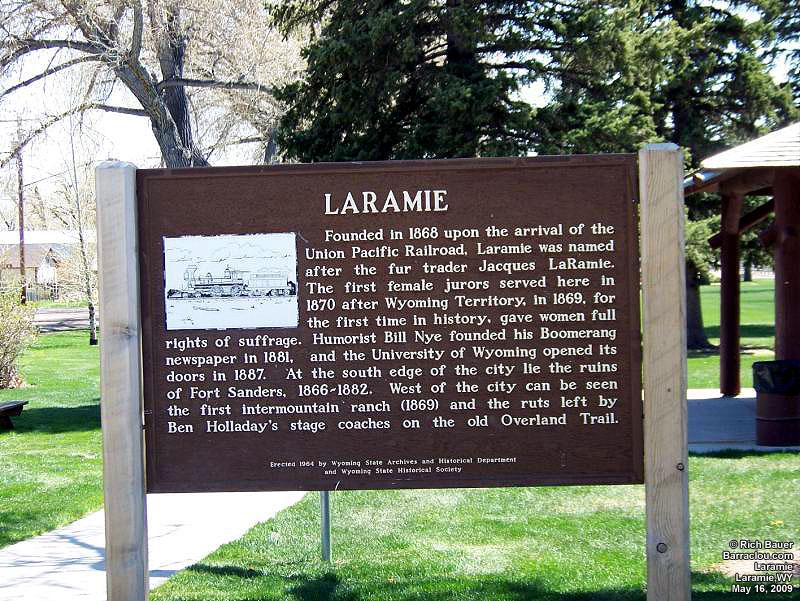 Laramie History, Laramie