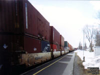 CN Train 121 containers