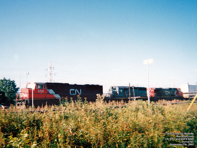 GCFX 6045 (on CN) - SD40-3 (To WC 6915, then Paterson Grain DLCX 6915 - Ex-CN 5212)