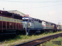 HATX 411  - GP40 (Ex-CSXT, Exx-SBD 6800, Nee L&N 3003) and Amtrak 345 - F40PH-2 (Scrapped by Rail World - MMA)