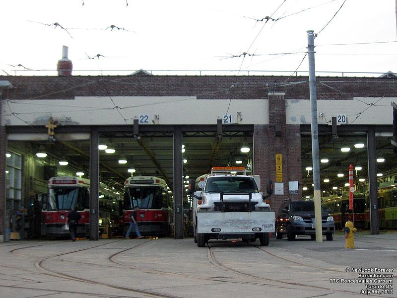 Streetcars >> TTC Roncesvalles Carhouse, Toronto, Ontario - Barraclou.com