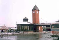 Transit Station built on the ex-CN depot street property in the Union station, Sherbrooke