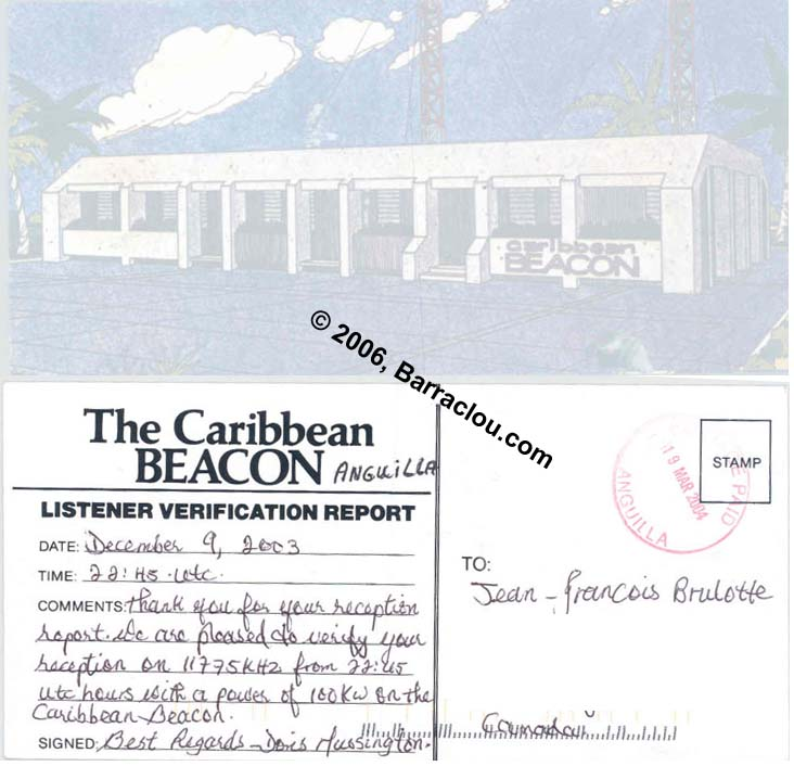 The Caribbean Beacon On 11775 KHz Anguilla