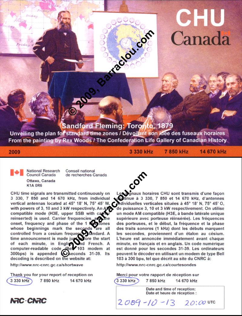 CHU On 3330 KHz OttawaON Canada