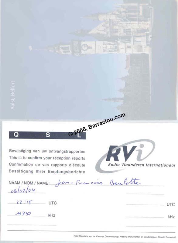 Radio Vlaanderen International On 11730 KHz Via Bonaire Belgium