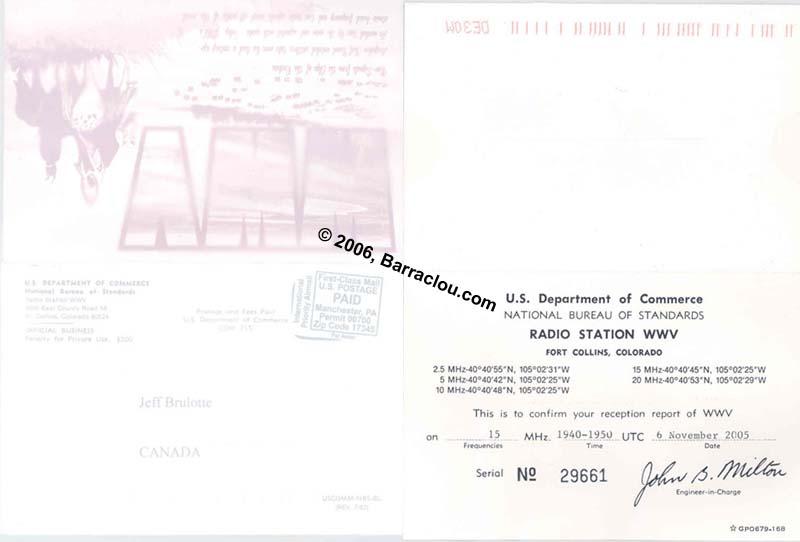 WWV On 15000 KHz Fort CollinsCO United States
